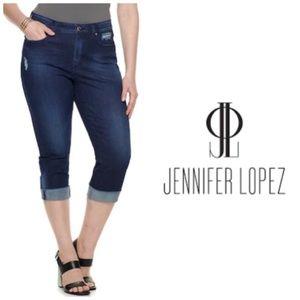 Jennifer Lopez Distressed Capri Jeans Plus Sz 26W